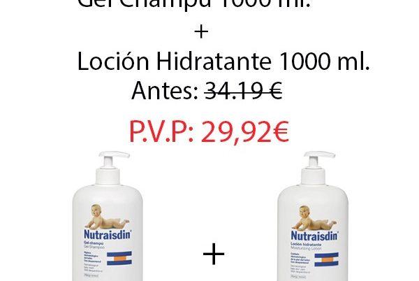 Pack Nutraisdin Bebe: Gel Champú 1000 ml.+Loción hidratante 1000 ml.