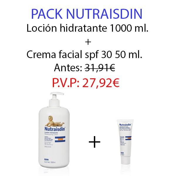 Pack Nutraisdin: Loción hidratante corporal 1000 ml. + crema facial piel clara 50 ml.